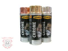 Эмаль CYCLONE Spray CHROME Acrylic Lacquer, 400мл, золото